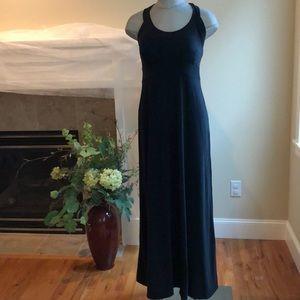 Prana Maxi Black Long Sleeveless Dress Size S NWT